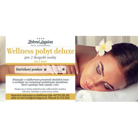 WELLNESS POBYT deluxe / 2 noci pre 2 osoby / 2020