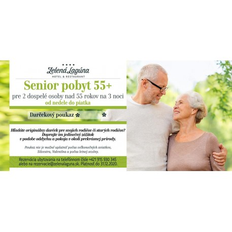 SENIOR POBYT 55 +  /  3 noci pre 2 osoby / 2020