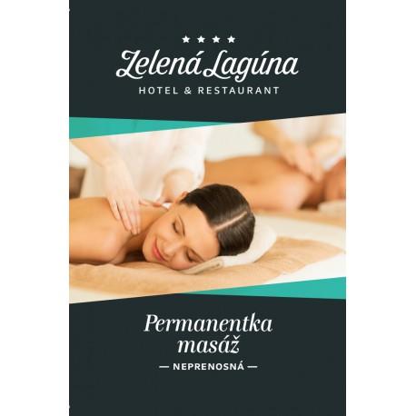 Permanentka masáž 10 vstupov / 50 minút